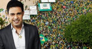 """Zezé Di Camargo faz """"esquerdalha"""" dar chilique e convoca o povo para manifestação em defesa do Voto Auditável (veja o vídeo)"""