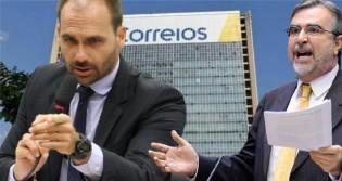 """Eduardo Bolsonaro detona petistas contrários à privatização dos correios: """"Não vão querer largar esse osso"""" (veja o vídeo)"""