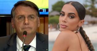 """Agora Bolsonaro cai! """"Grande pensadora"""" da esquerda, Anitta, diz que presidente envergonha o País (veja o vídeo)"""