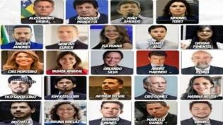 Manifestação reúne políticos zumbis, que tentam voltar a vida, atacando o presidente Bolsonaro