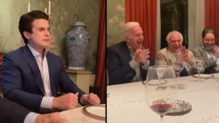"""Um banquete repugnante, um """"bobo da Corte"""" mimado e o tapa na cara do povo (veja o vídeo)"""