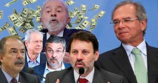 """Os 51 milhões de Guedes não roubados, conquistados com trabalho, """"versus"""" os 10 trilhões do PT, roubados"""