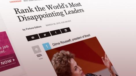 Dilma lidera votação da revista Fortune: a líder mais decepcionante do mundo