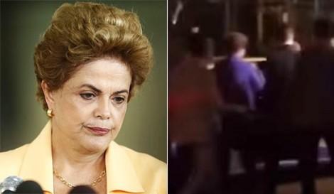 Vaiada, Dilma enfrenta a repulsa popular ao sair da casa de Pezão, no Rio (veja o vídeo)