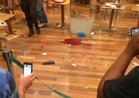 Pânico no Shopping: discussão e tiros por disputa de uma cadeira (veja o vídeo)