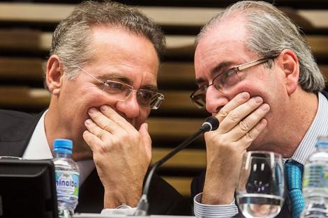 Tal como Cunha, a força de Renan está no cargo