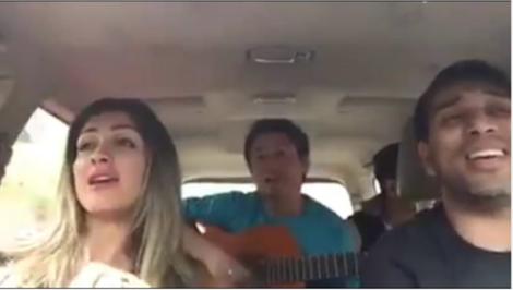 Esposa de Cueva canta em vídeo dentro do carro que viraliza. Ela é show (Veja o vídeo)