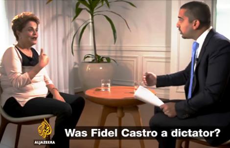 Desarticulada e fraca, Dilma desconcerta quando questionada sobre Fidel (Veja o vídeo)