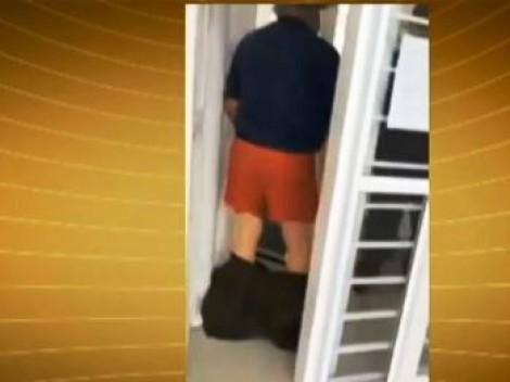 Porta giratória de banco deixa gaúcho sem bombacha (veja o vídeo)