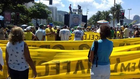 Qualquer manifestação contra a corrupção nunca será um 'fiasco'