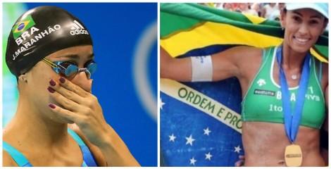 Nadadora de 'esquerda' e jogadora de vôlei de 'direita' digladiam no twitter