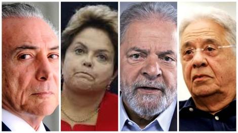 Eleições democráticas com todos os ex-presidentes inelegíveis, se possível presos