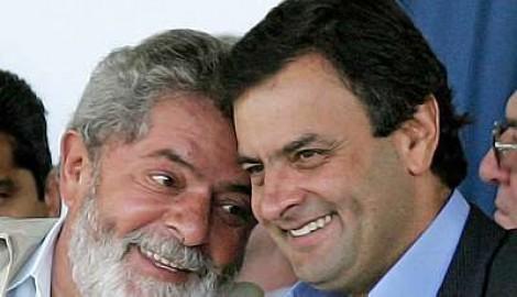 Lula sai em socorro de Aécio