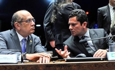 Gilmar Mendes fica acuado com 'puxão de orelha' de juiz Sérgio Moro