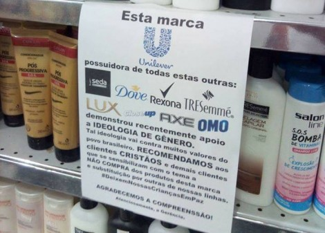 Comerciantes alavancam campanha contra produtos da Unilever