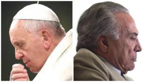 Papa Francisco manda dizer que não recebe Michel Temer