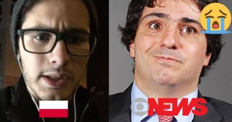 Brasileiro residente na Polônia desafia Guga Chacra (veja o vídeo)