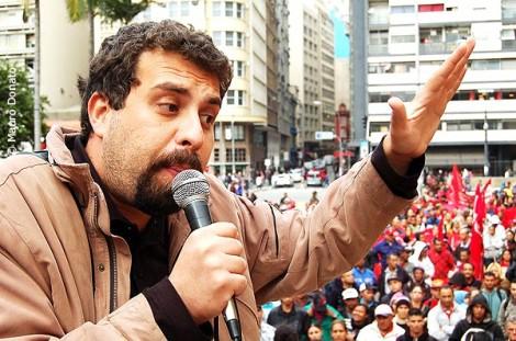 Boulos não consegue esconder a felicidade com a situação de Lula