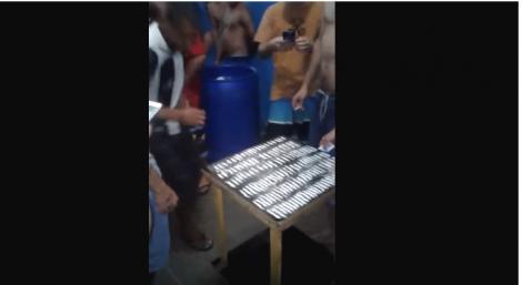 Desmoralização total: Farra com cocaína em presídio de Porto Alegre (veja o vídeo)