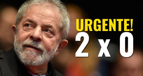Lula já está condenado: 2 a 0 para o povo brasileiro