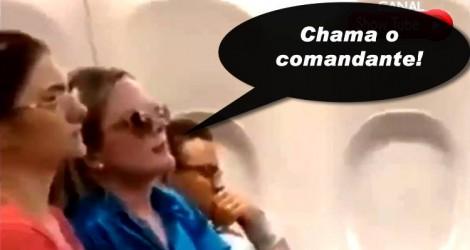 Pergunta de cidadão sobre 'amante' causa revolta em Gleisi, em pleno voo (Veja o Vídeo)