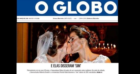 "A inusitada capa do jornal ""O Globo"""