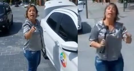 Repórter do SBT,  chama guarda municipal de BABACA e acaba demitida pela emissora (veja o vídeo)
