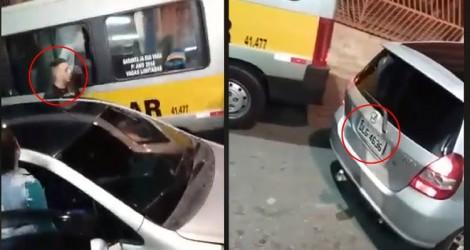 Procura-se um covarde que agrediu uma mulher traiçoeiramente (Veja o Vídeo)