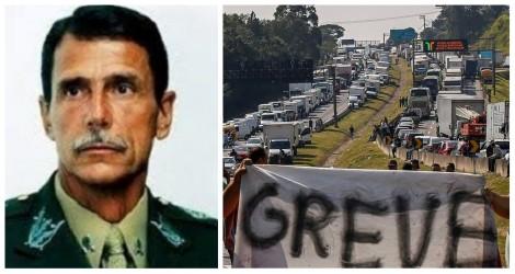 """General se manifesta sobre greve dos caminhoneiros: """"Para tudo há um LIMITE!"""""""