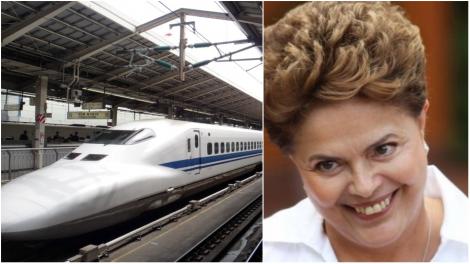 Explode no bolso do cidadão brasileiro o trem bala imaginário de Dilma