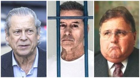 Dirceu, Estevão e Geddel: bandido é bandido, mesmo preso
