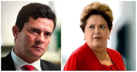 Dilma está morrendo de medo de se defrontar com o juiz Moro