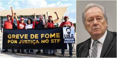 O patético encontro entre Lewandowski e os grevistas de fome e a declaração do ministro