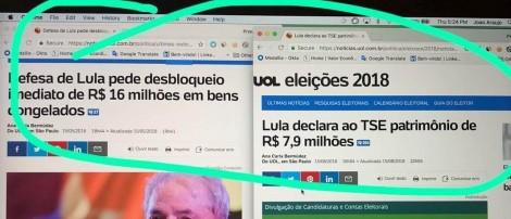 O engodo da declaração de bens de Lula