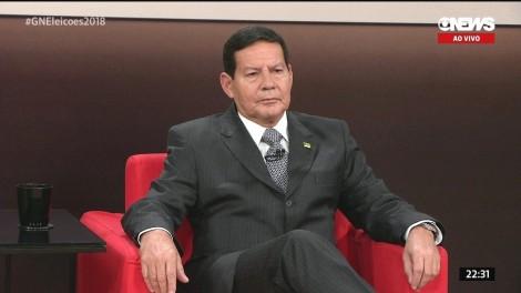 General Mourão no Globo News: Um baile...