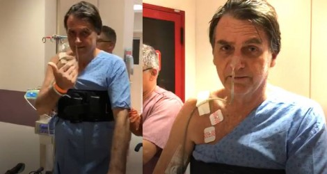 As primeiras imagens de Jair Bolsonaro em recuperação na fisioterapia (Veja o Vídeo)