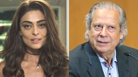 Juliana Paes rebate José Dirceu (Veja o Vídeo)