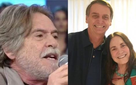 """Zé de Abreu sugere """"agressão"""" a Regina Duarte por apoio a Bolsonaro"""