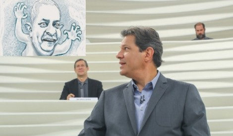 "No Roda Viva, o ""fantasma"" de Lula assombra Haddad (Veja o Vídeo)"