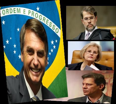 Vitorioso, Bolsonaro é ignorado pelos presidentes do TSE e STF. E até por Haddad