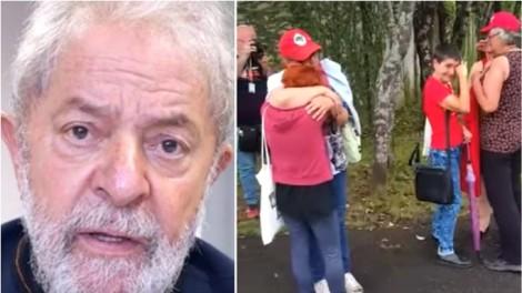 """O retorno de Lula para a cadeia e o flagrante do choro dos """"militontos"""" (Veja o Vídeo)"""