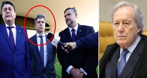 """Lewandowski recebe deputado do """"Trio Pateta"""" minutos antes da sessão do HC de Lula (Veja o Vídeo)"""