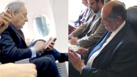 """Atenção senhores passageiros: """"Em caso de presença de algum ministro do STF na aeronave, não se manifeste"""""""