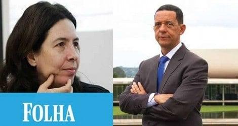 A briga entre a desacreditada jornalista da Folha e o respeitado jornalista da Jovem Pan (Veja o Vídeo)