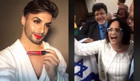 Maquiador gay defende Damares após polêmica (Veja o Vídeo)