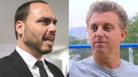 """O """"cala-boca"""" de Carlos Bolsonaro em Luciano Huck"""