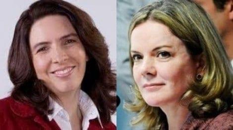A explicita parceria entre Gleisi e a jornalista da Folha se evidencia no Twitter