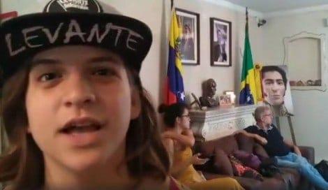 Garota brasileira do Levante defende genocida Nicolás Maduro (veja o vídeo)