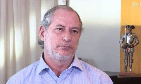 """Ciro Gomes, magoado, revela escândalo de R$ 1 bilhão do PT e """"delata"""" Eunício (Veja o Vídeo)"""