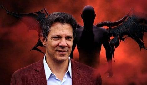 """O abraço no """"capeta"""" revelado por Fernando Haddad"""